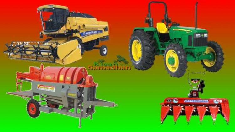 ट्रेक्टर, हार्वेस्टर एवं अन्य कृषि यंत्रों पर टैक्स में छूट