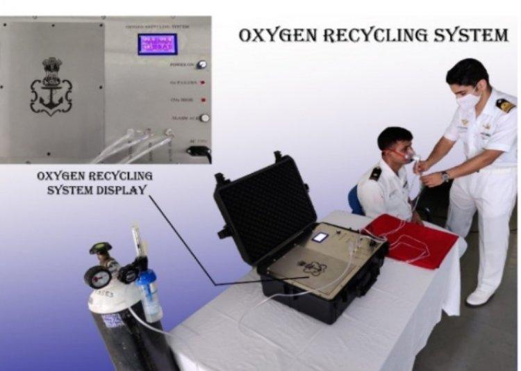 ऑक्सीजन संकट से निपटने भारतीय नौसेना ने बनाया ऑक्सीजन रीसाइक्लिंग सिस्टम