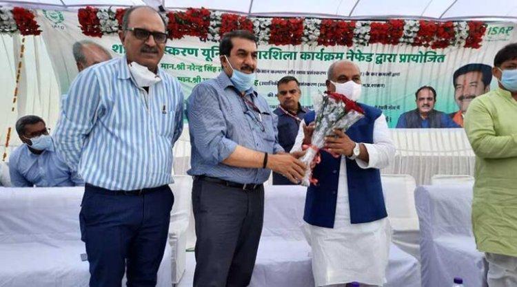 मुरैना क्षेत्र के गरीब किसानों के जीवन में सार्थक बदलाव लाएगा हनी मिशन: नरेंद्र सिंह तोमर